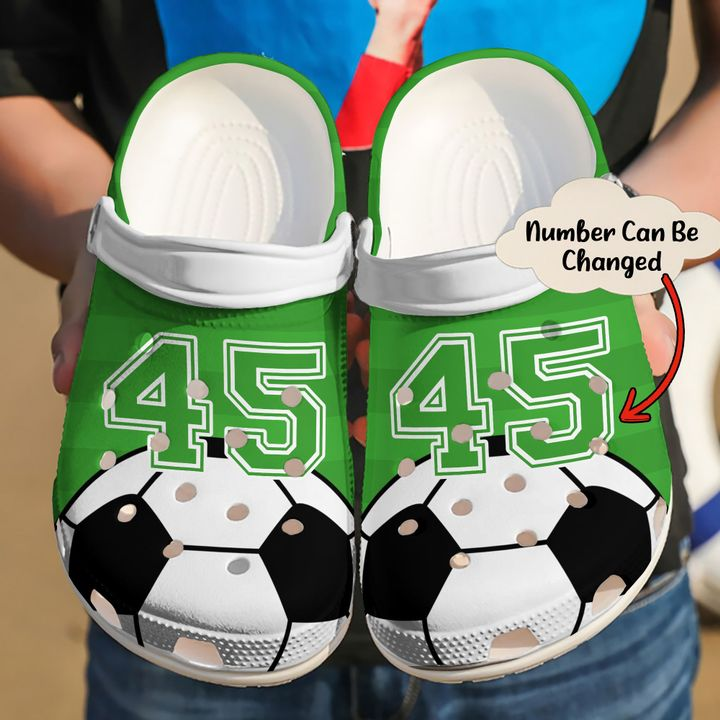 Soccer Personalized Love Sku 2257 Crocs Clog Shoes