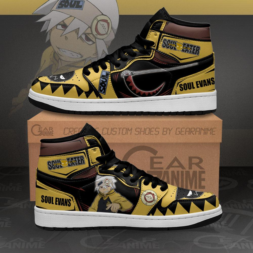 Soul Evans Sneakers Soul Eater Custom Anime Air Jordan Shoes