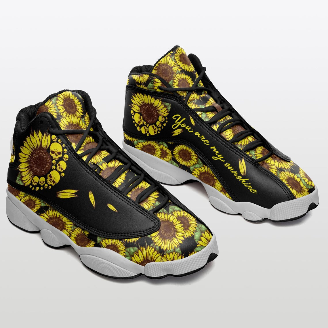 Sunflower Skull Sku 31 Air Jordan Shoes