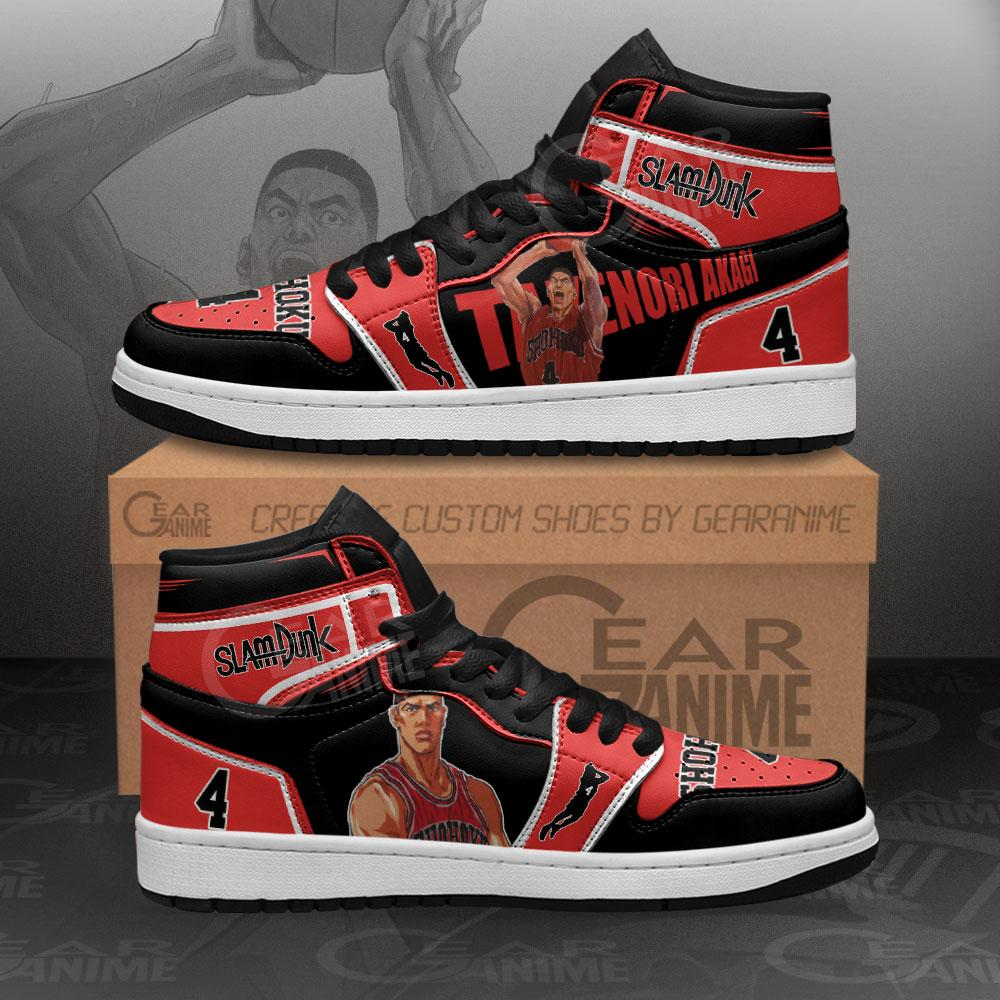 Takenori Akagi Sneakers Slam Dunk Anime Air Jordan Shoes