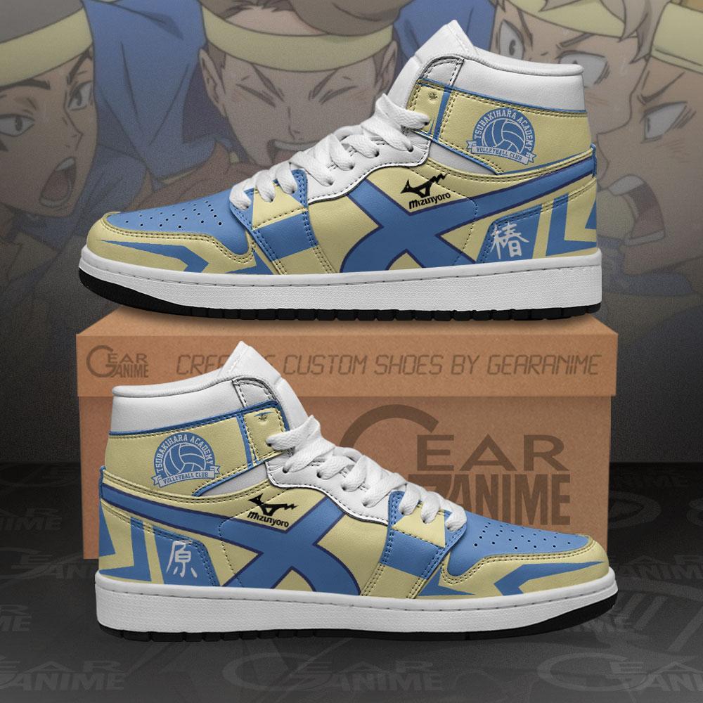 Tsubakihara Academy Sneakers Haikyuu Custom Anime Air Jordan Shoes