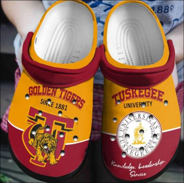 Tuskegee University Golden Tiger Crocs Clog Shoes