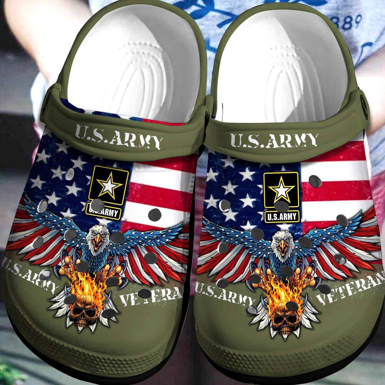 Us Army Veteran Crocs Clog Shoes