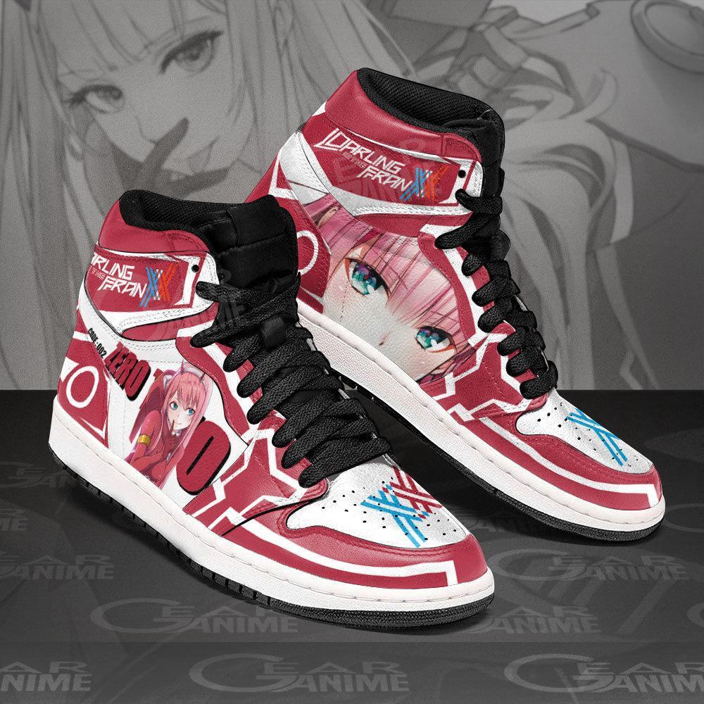 Zero Two Darling In The Franxx Sneakers Code 002 Custom Air Jordan Shoes