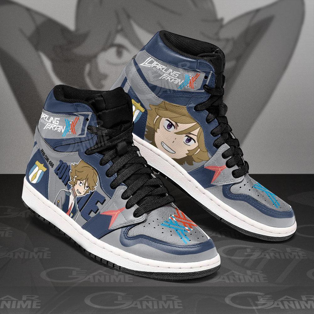 Zoromeo Darling In The Franxx Sneakers Code 666 Custom Air Jordan Shoes