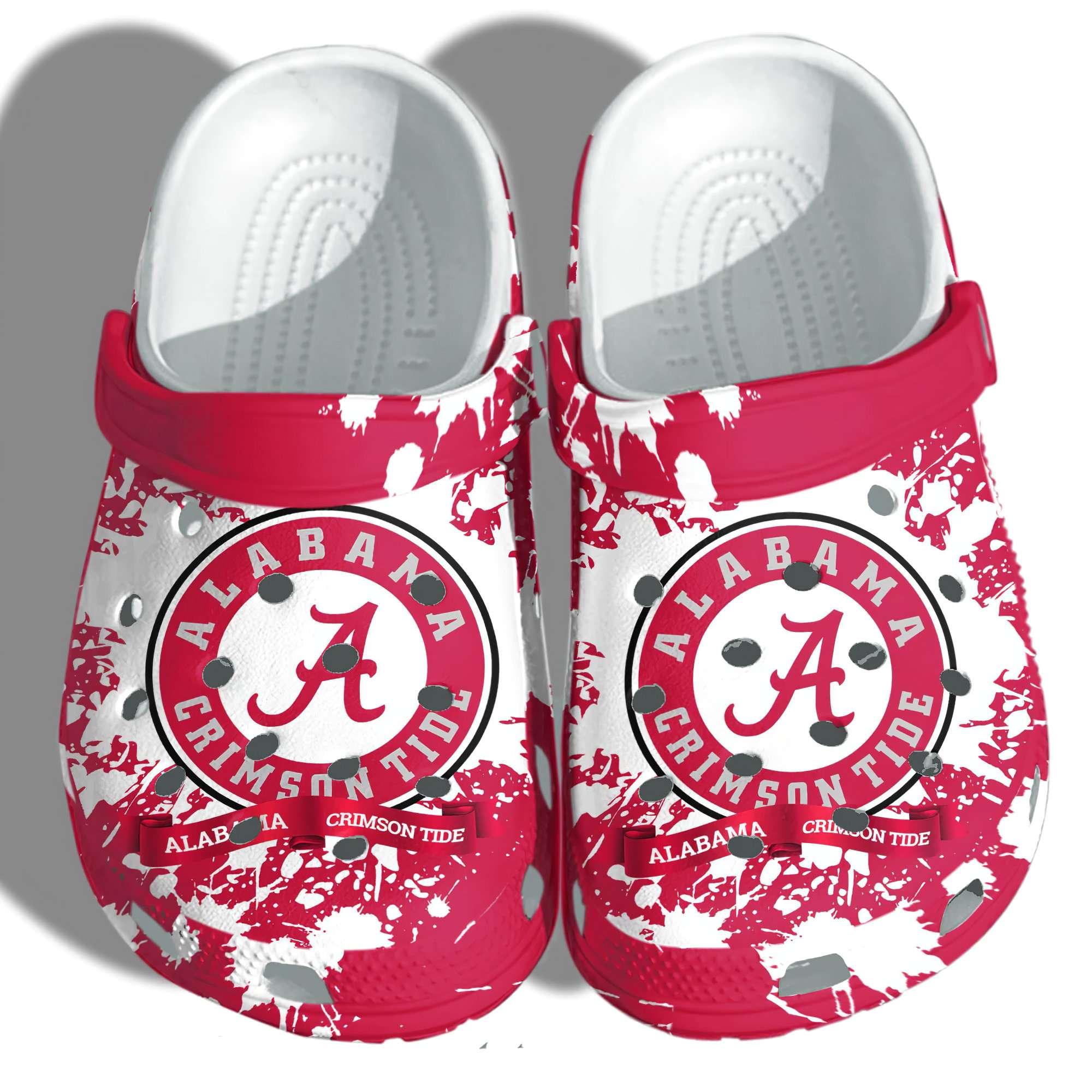 Alabama Football Fan Crocs Clog Shoes