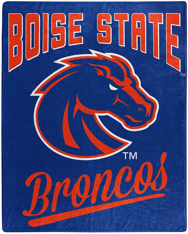 Alumni Silk Touch Throw Blanket Boise State Broncos Fleece Blanket