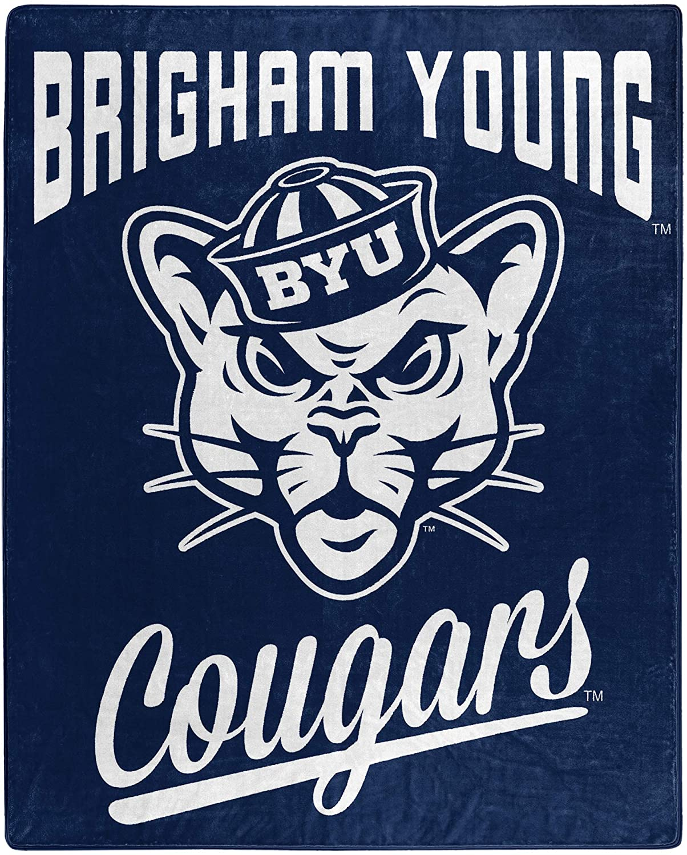Alumni Silk Touch Throw Blanket Byu Cougars Fleece Blanket