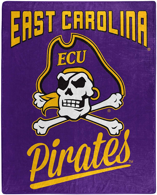 Alumni Silk Touch Throw Blanket East Carolina Pirates Fleece Blanket