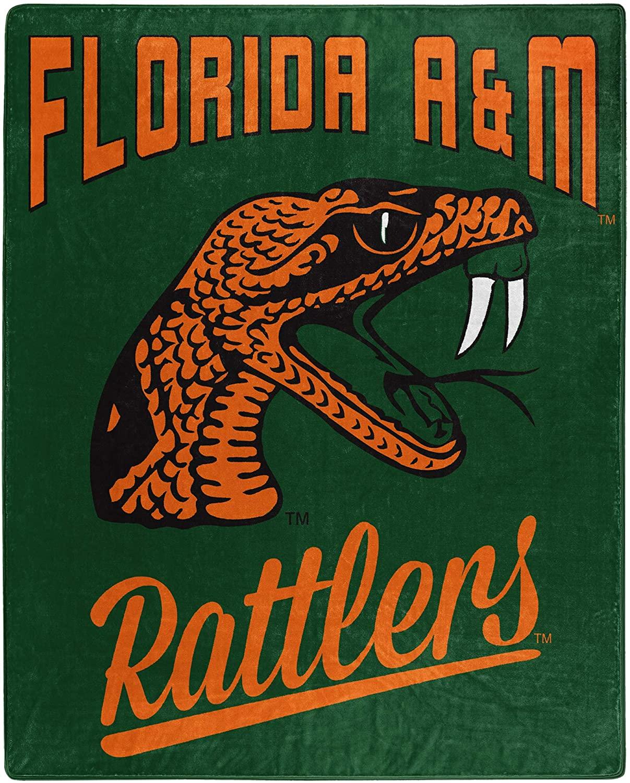 Alumni Silk Touch Throw Blanket Florida A&m Rattlers Fleece Blanket
