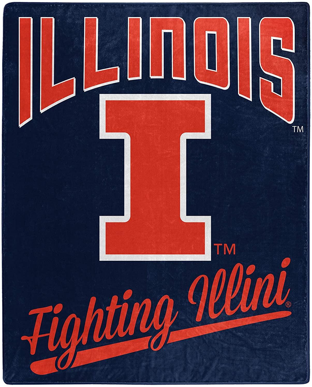 Alumni Silk Touch Throw Blanket Illinois Fighting Illini Fleece Blanket
