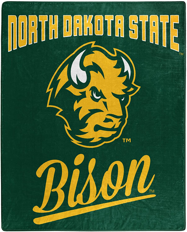 Alumni Silk Touch Throw Blanket North Dakota State Bison Fleece Blanket