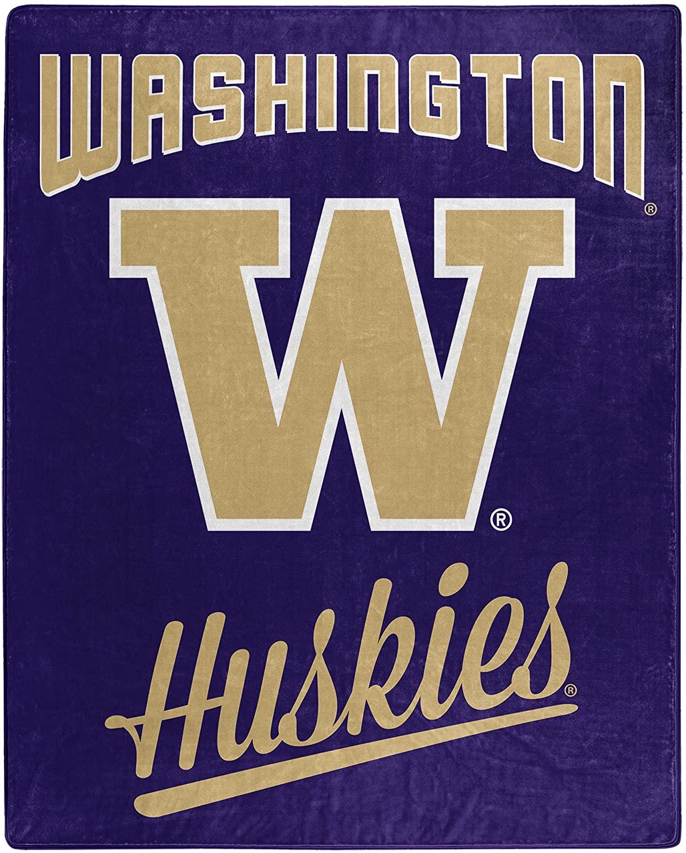 Alumni Silk Touch Throw Blanket Washington Huskies Fleece Blanket