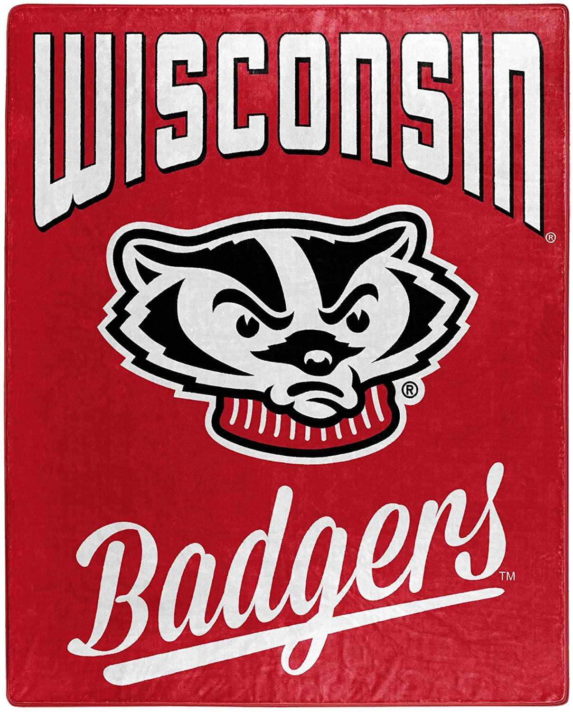 Alumni Silk Touch Throw Blanket Wisconsin Badgers Fleece Blanket