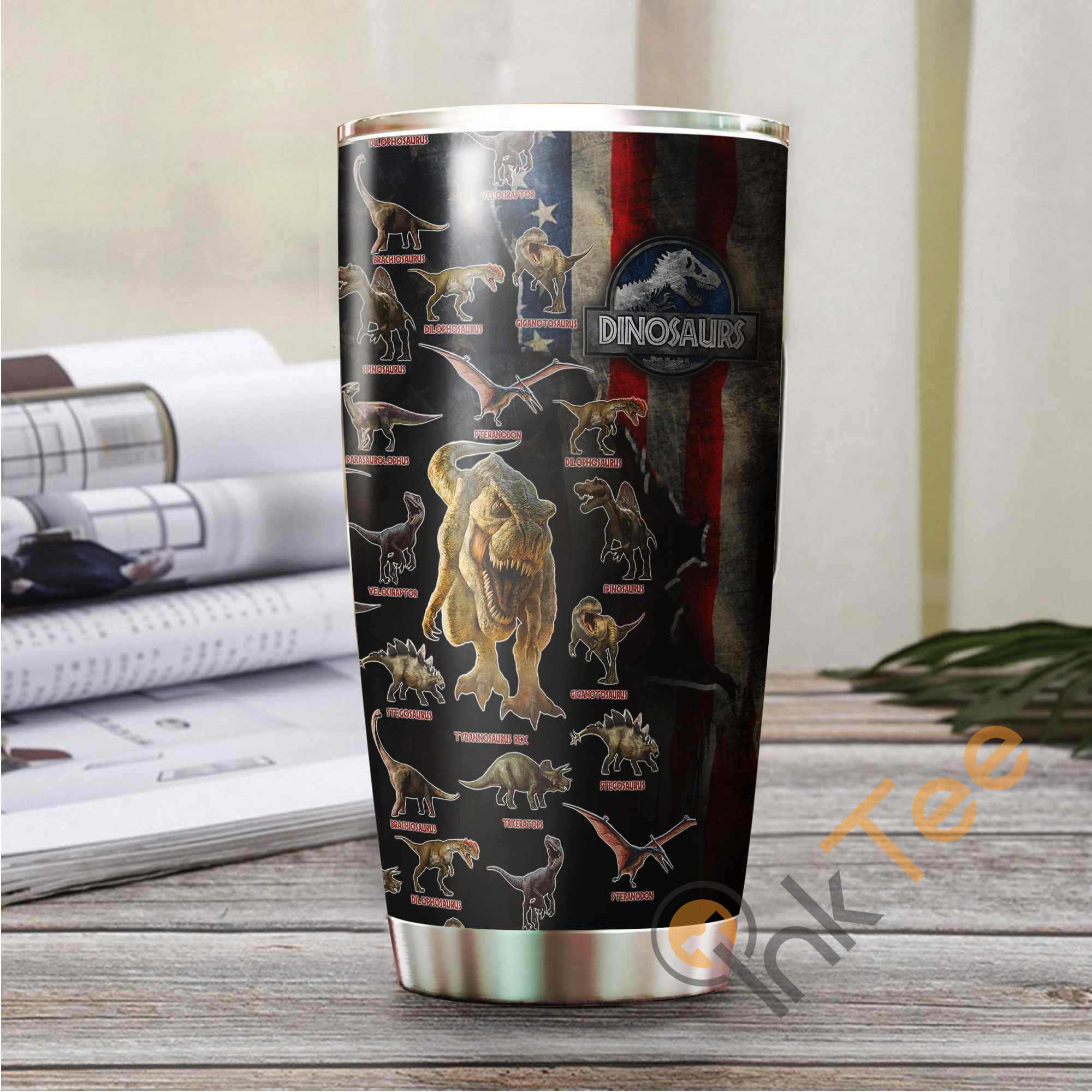 Amazing Dinosaurs Collection Art Stainless Steel Tumbler