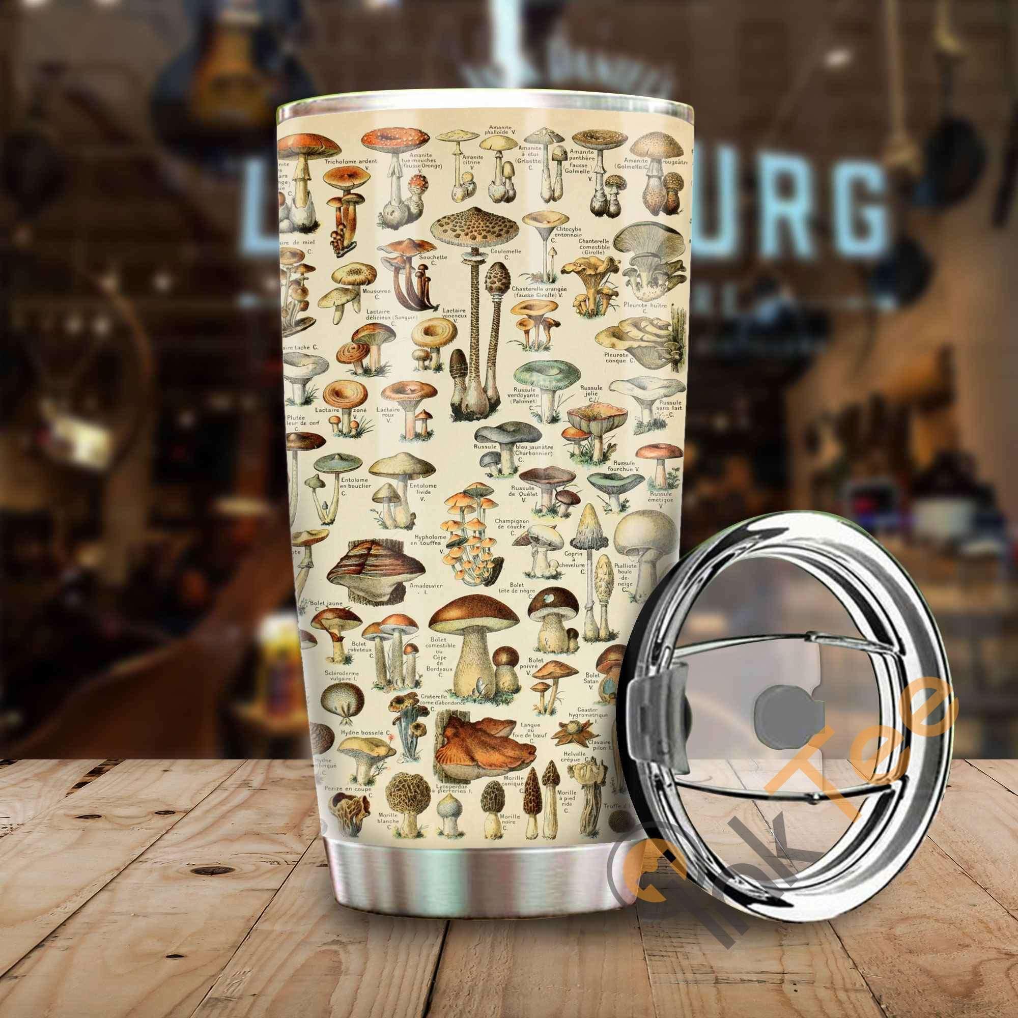 Amazing Mushroom Art Stainless Steel Tumbler