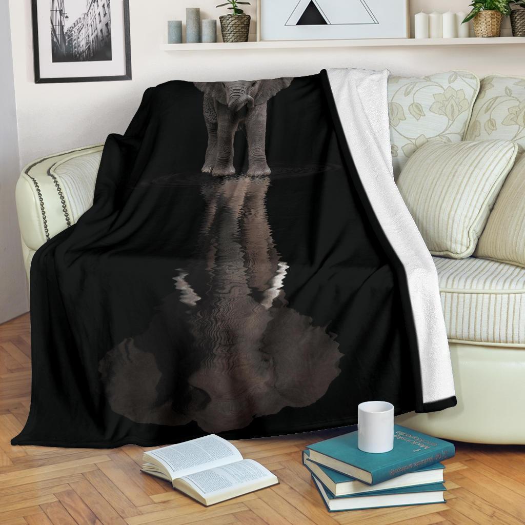 Amazon Best Seller Elephant Water Reflection Fleece Blanket