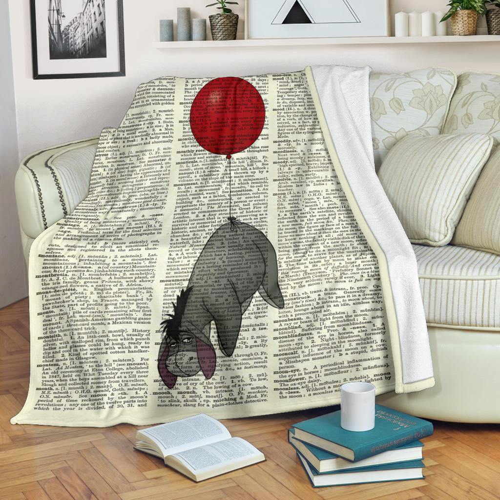 Amazon Best Seller Funny Ballon Eeyore Winnie The Pooh Fleece Blanket