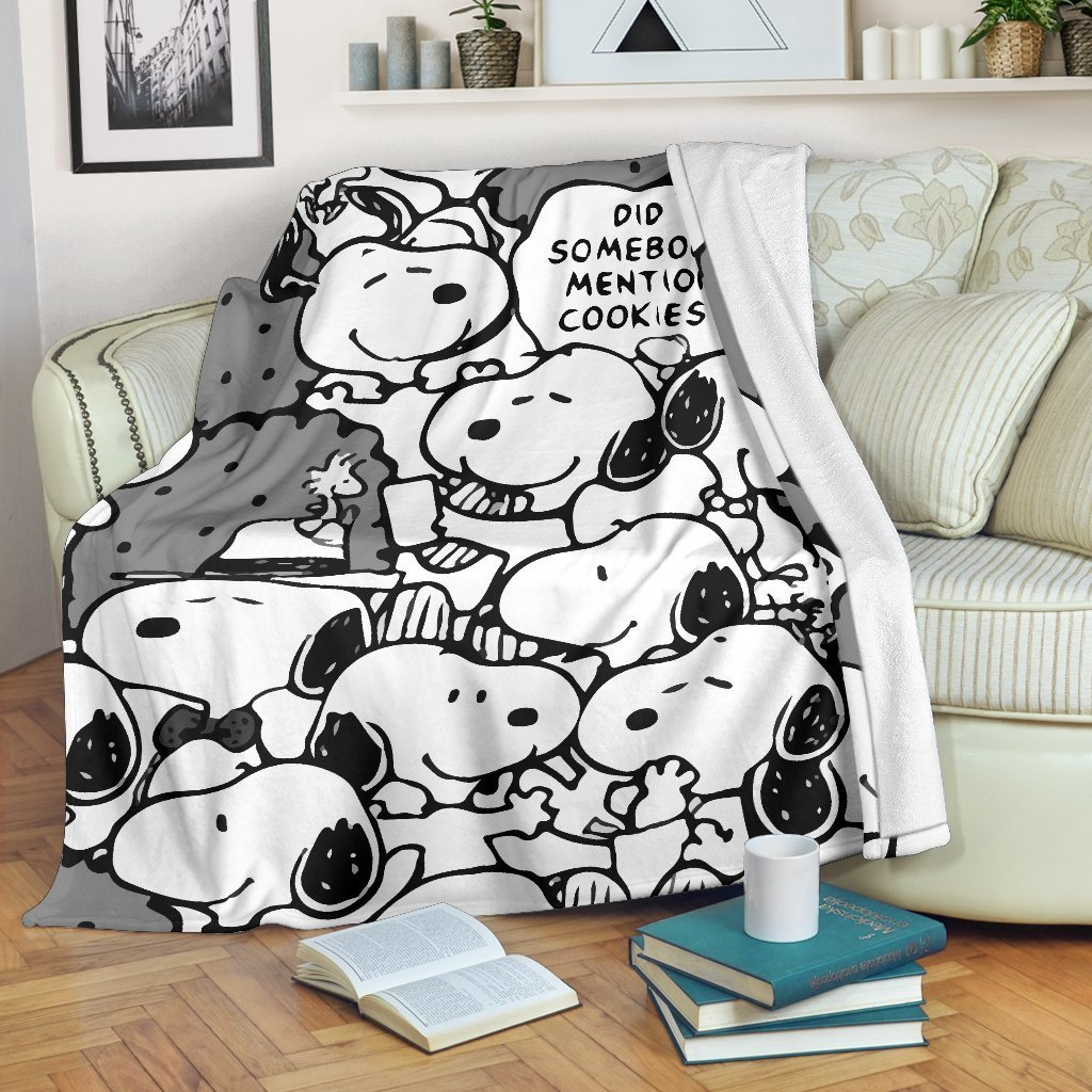 Amazon Best Seller Funny Pattern Snoopy Did Somebody Mention Cookies15 Fleece Blanket