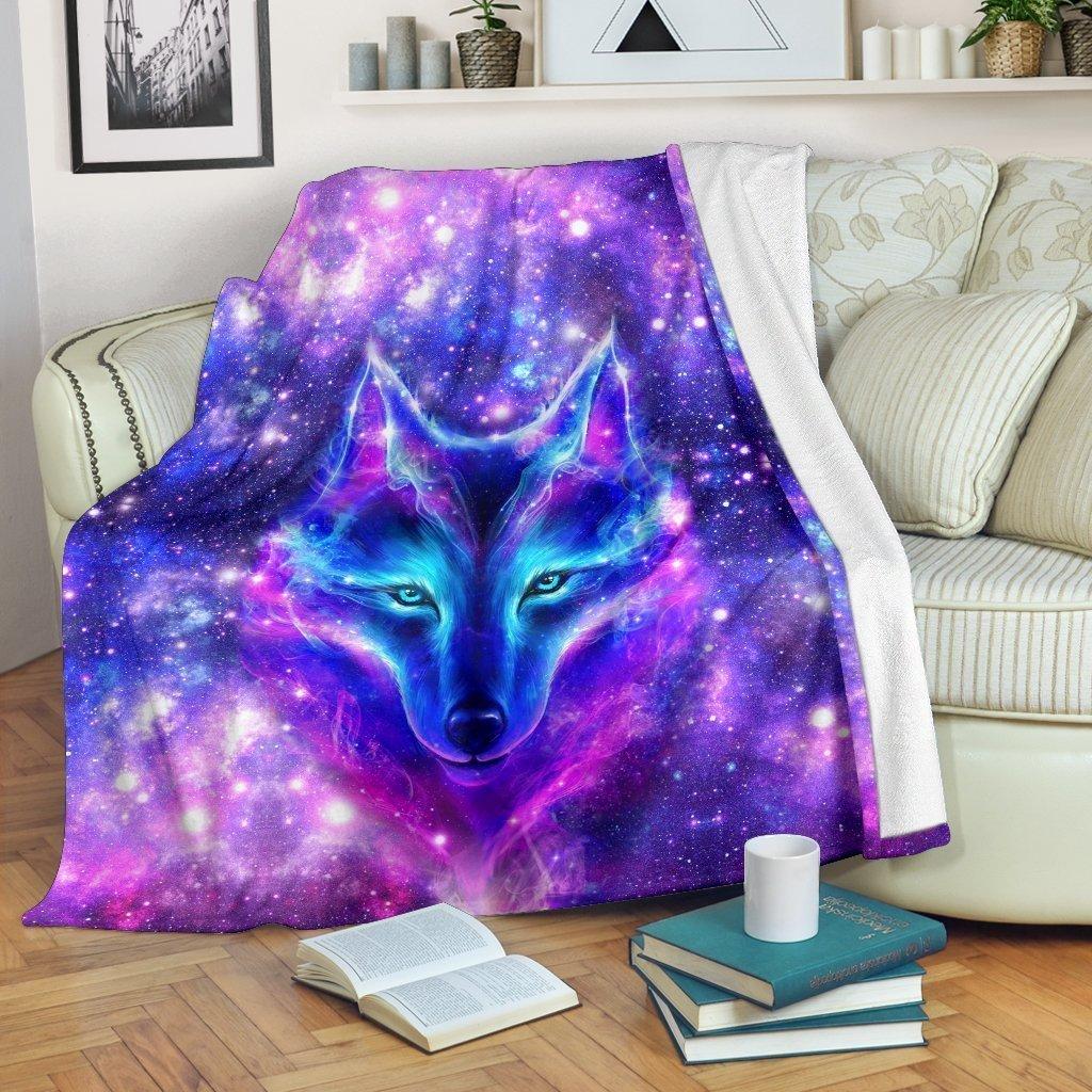Amazon Best Seller Galaxy Wolf Wolf Lover Fleece Blanket