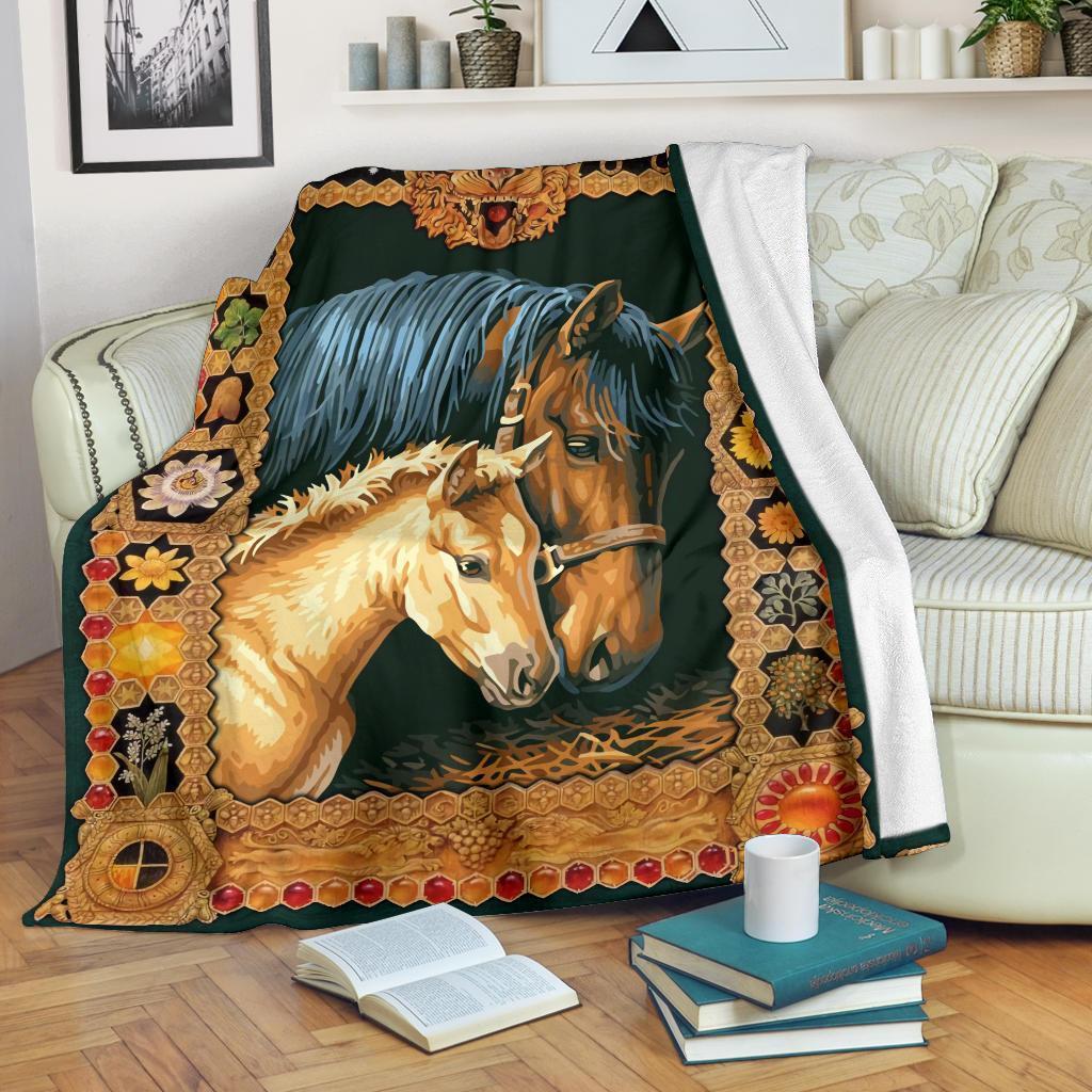 Amazon Best Seller Graphic Paint Horse Horse Lover Fleece Blanket