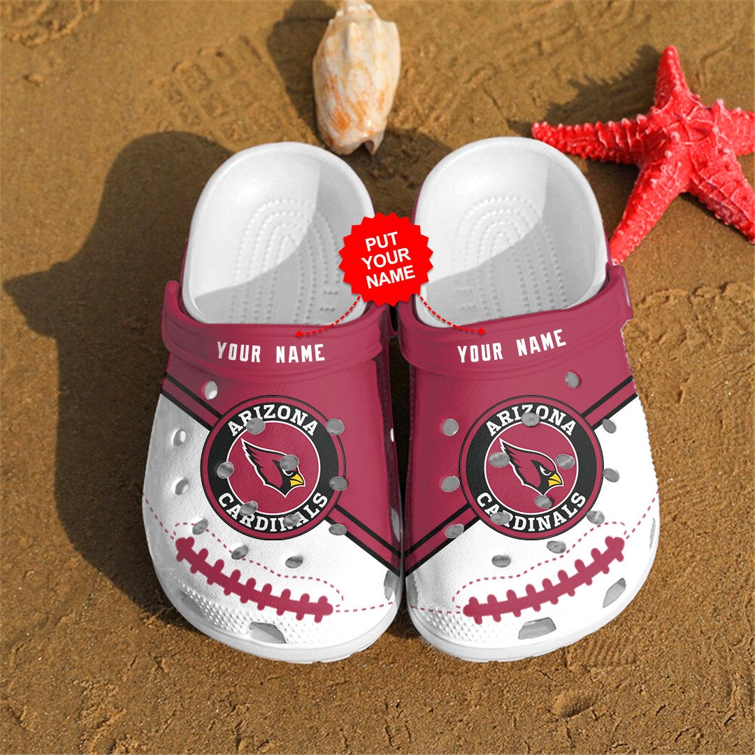 Arizona Cardinals Personalized Custom For Nfl Fans Crocs Clog Shoes