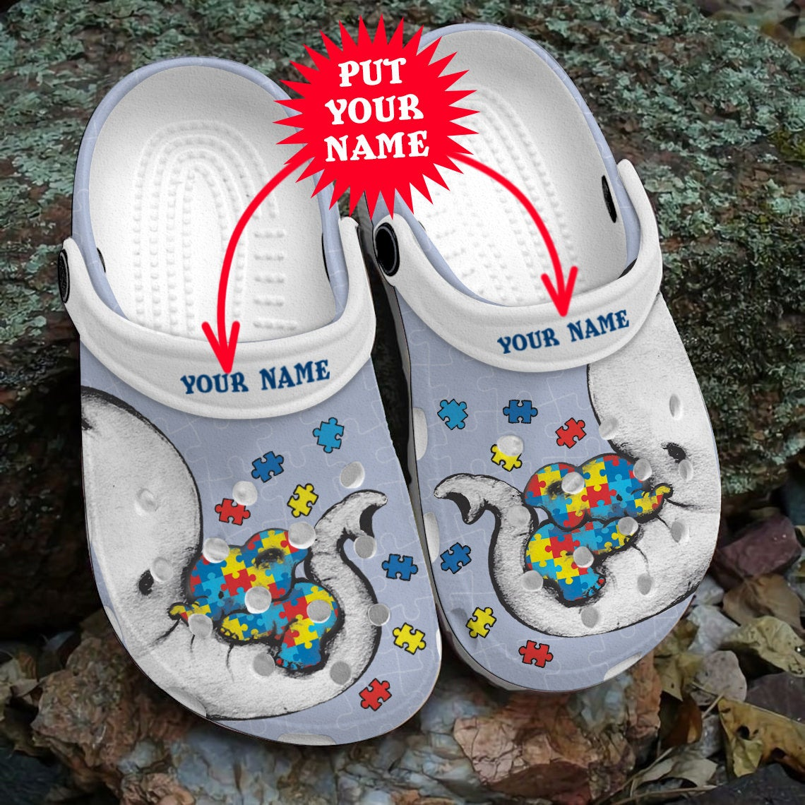 Autism Elephant Mom Different Beautiful Crocs Clog Shoes
