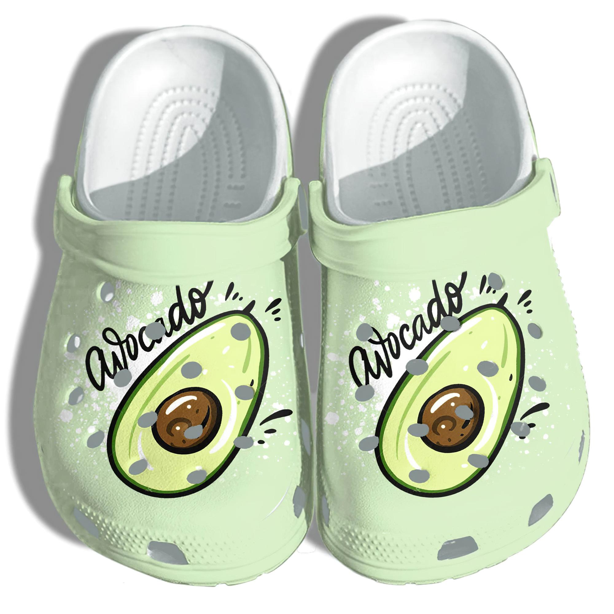 Avocado Cute Funny Crocs Clog Shoes