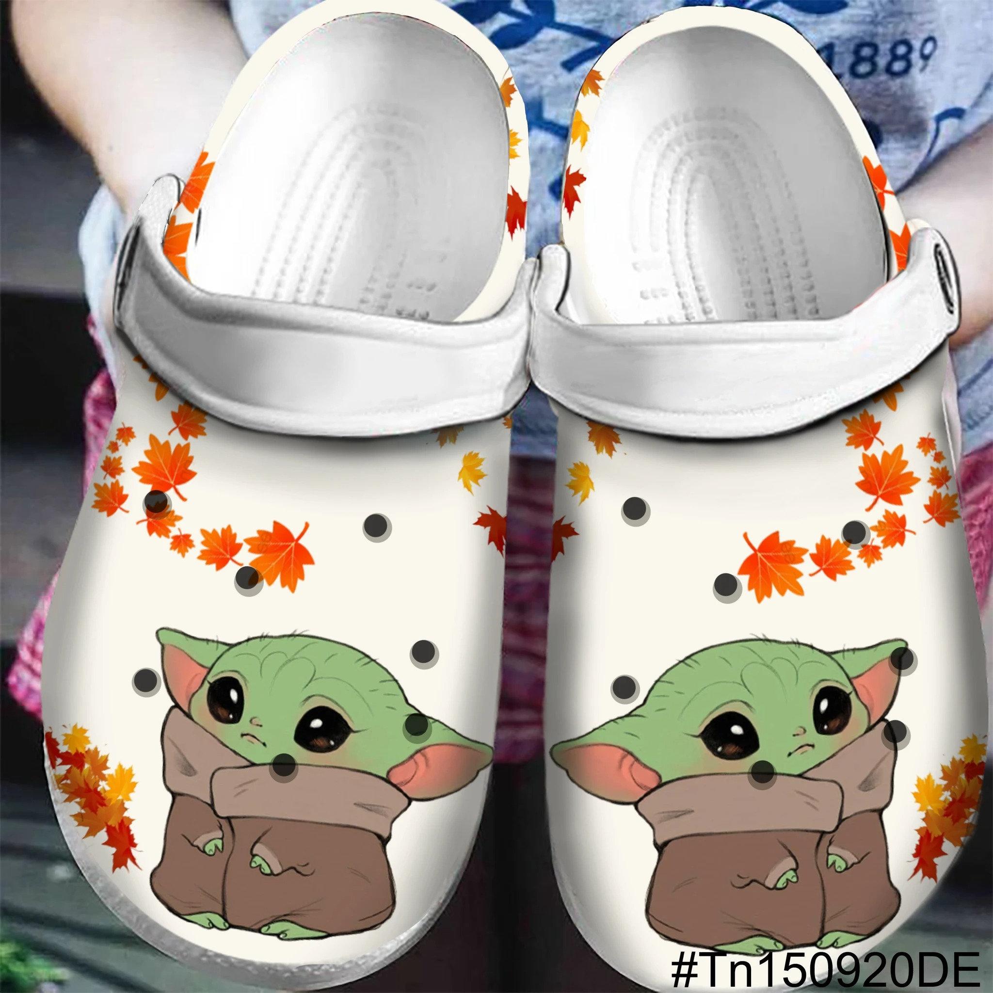 Baby Yoda Crocs Clog Shoes
