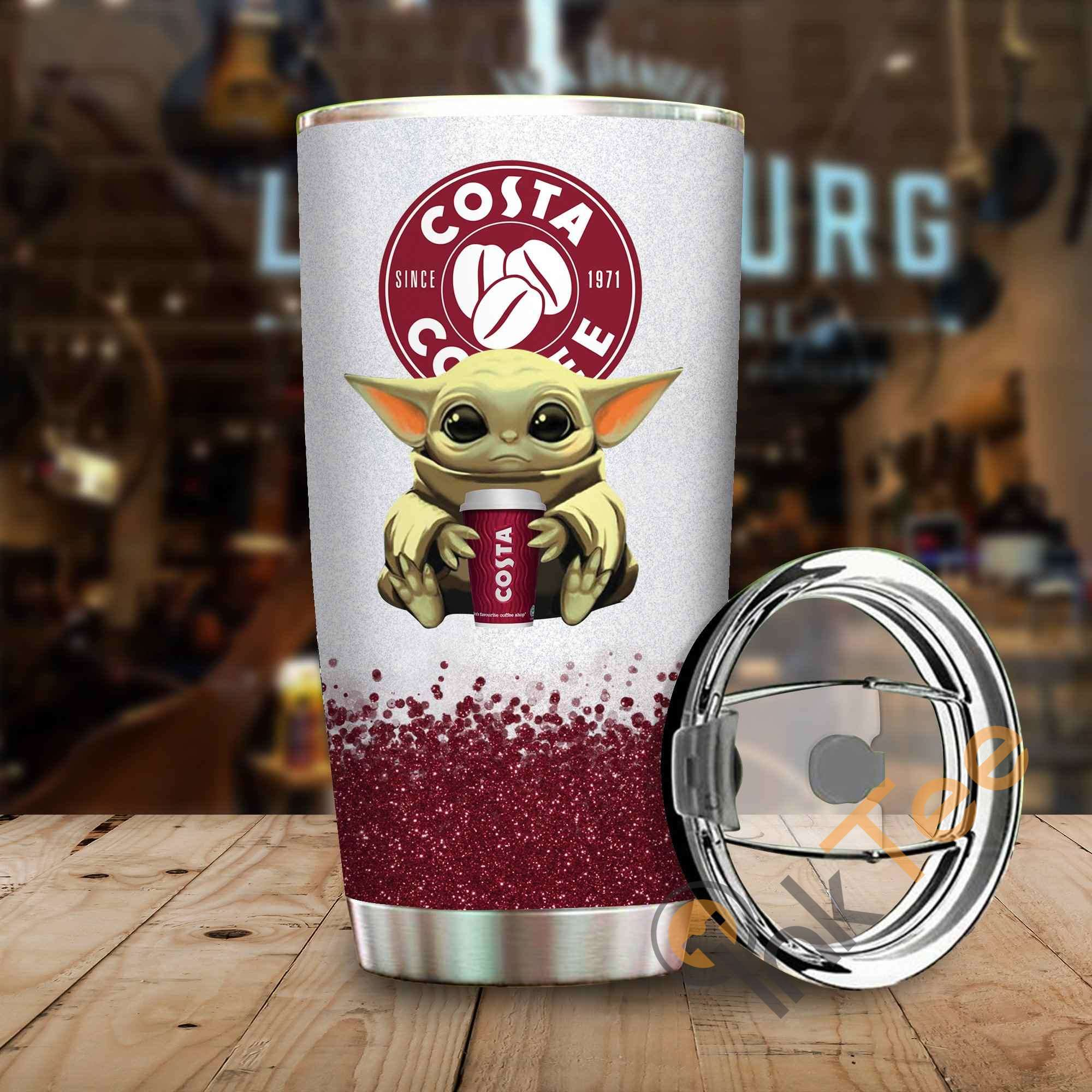 Baby Yoda Hold Costa Coffee Amazon Best Seller Sku 4022 Stainless Steel Tumbler