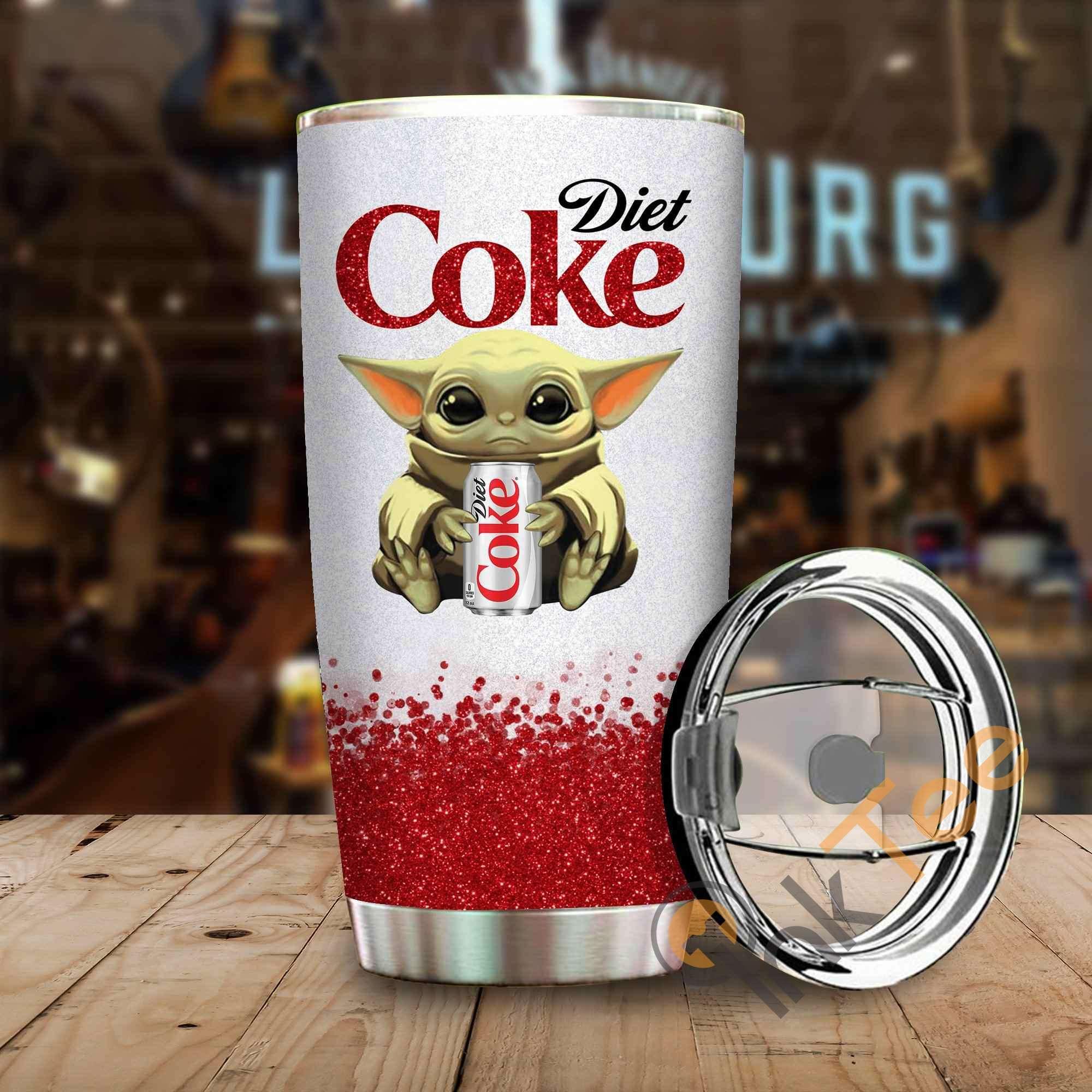 Baby Yoda Hold Diet Coke Amazon Best Seller Sku 3996 Stainless Steel Tumbler