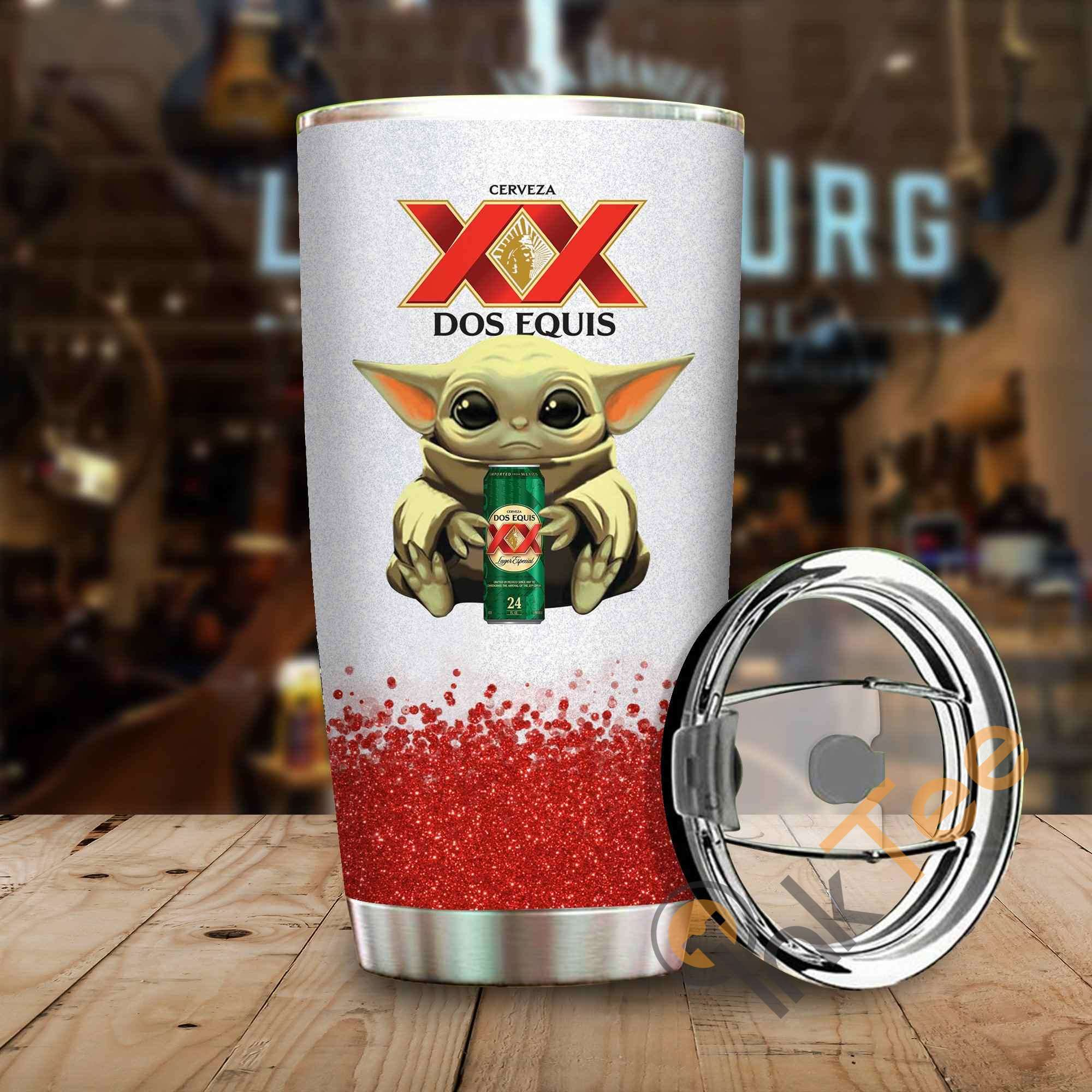 Baby Yoda Hold Dos Equis Amazon Best Seller Sku 3923 Stainless Steel Tumbler
