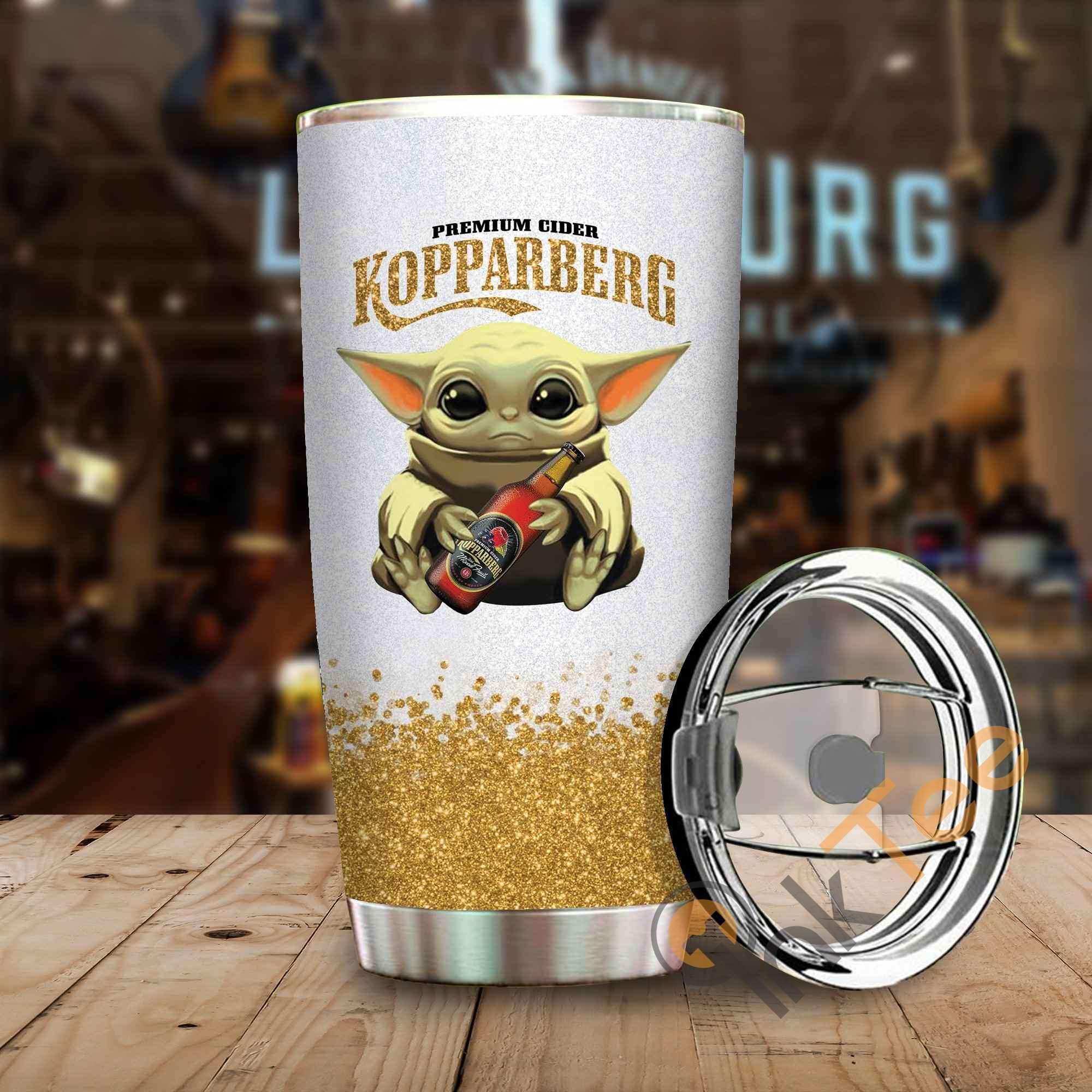 Baby Yoda Hold Kopparberg Amazon Best Seller Sku 3884 Stainless Steel Tumbler