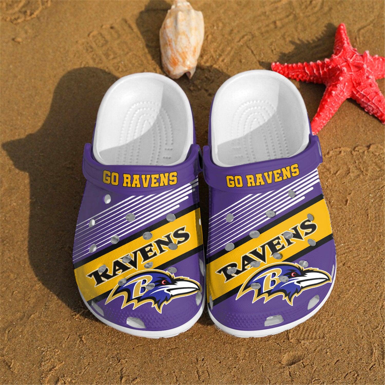 Baltimore Ravens Go Ravens Custom For Nfl Fans Crocs Clog Shoes