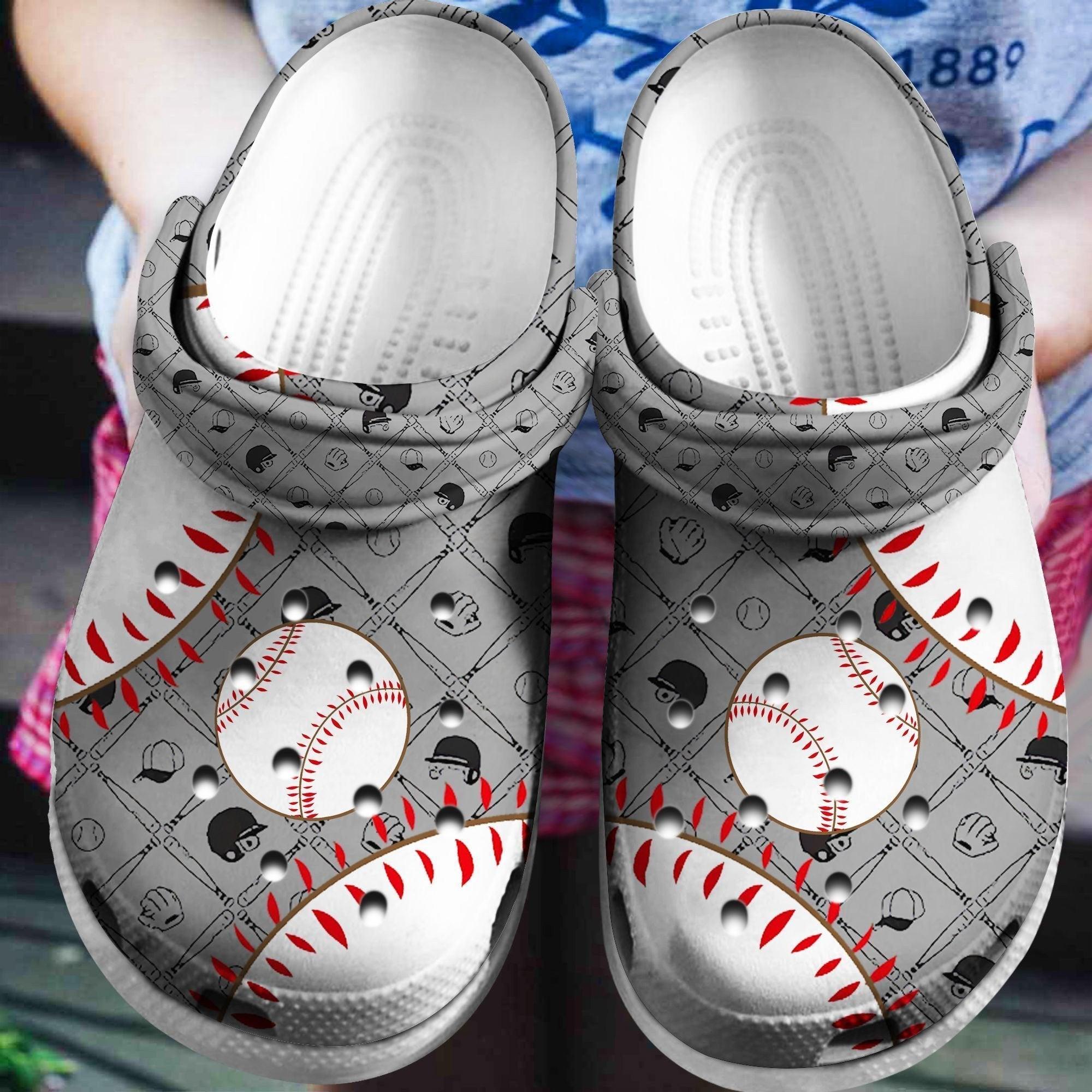 Baseball Crocs Clog Shoes