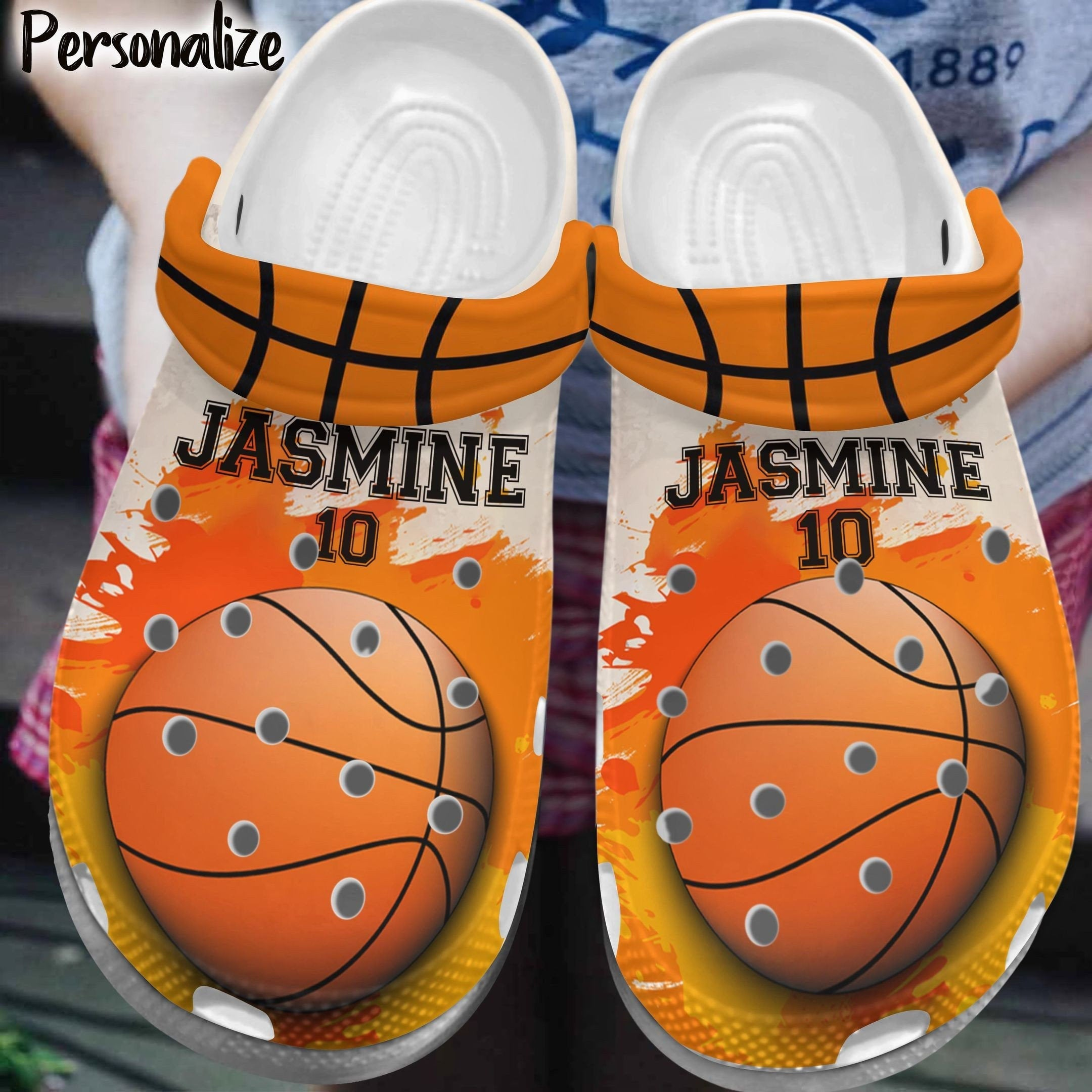 Basketball Is Life Personalized Crocs Clog Shoes