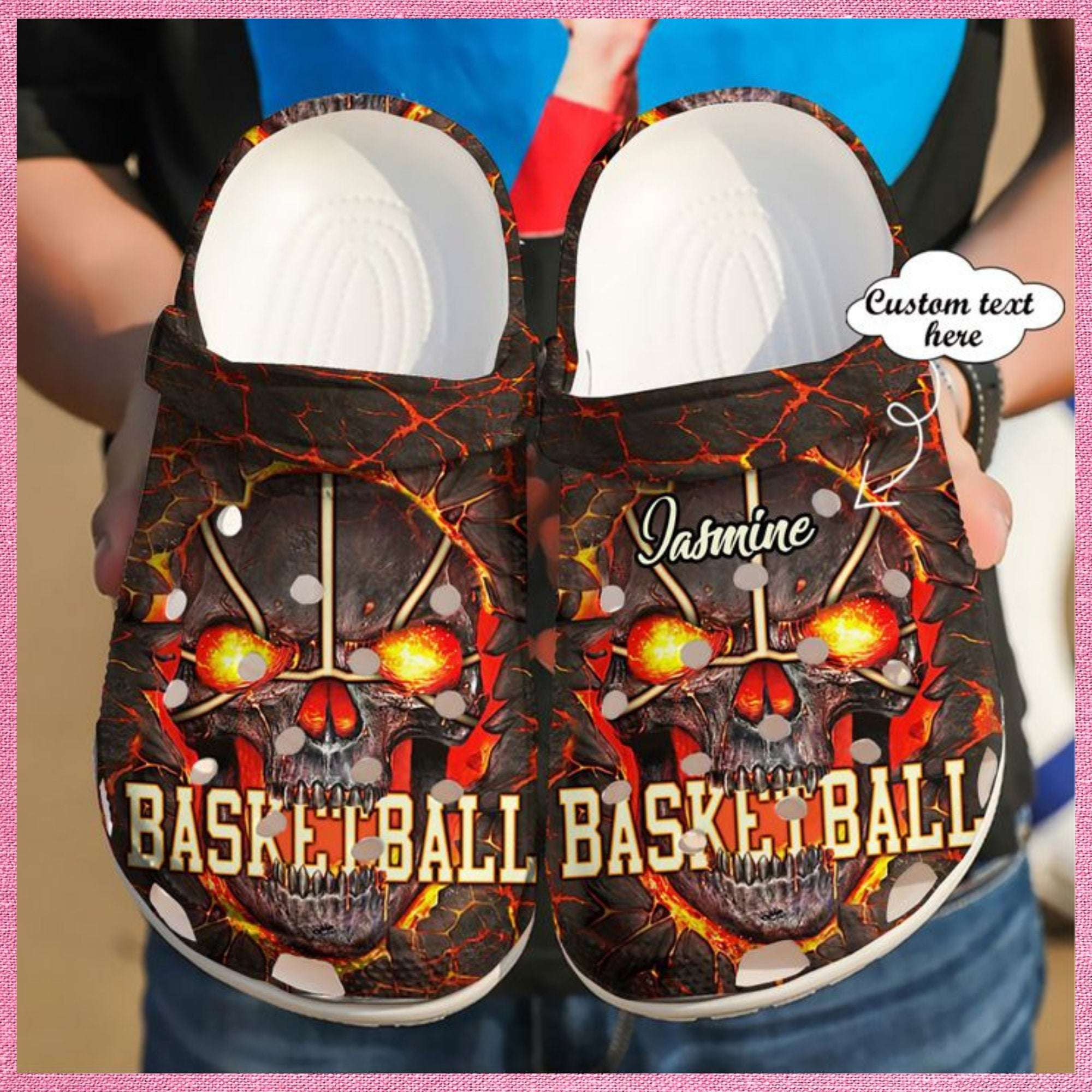 Basketball Personalized Skull Crocs Clog Shoes
