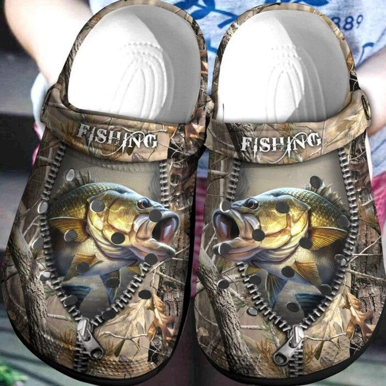 Bass Fishing Hunting Comfortable For Mens And Womens Classic Water Crocs Clog Shoes