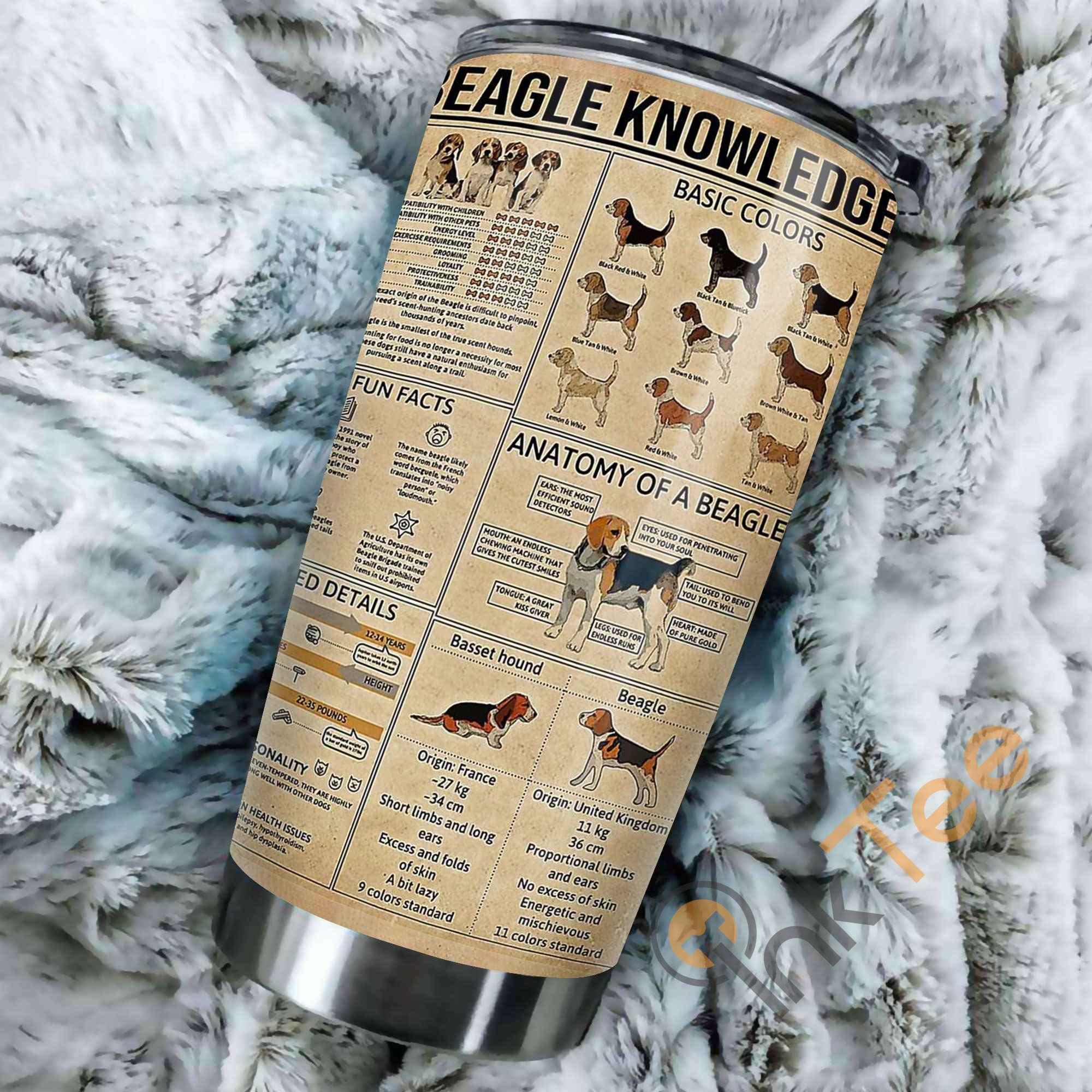 Beagle Knowledge Amazon Best Seller Sku 2639 Stainless Steel Tumbler