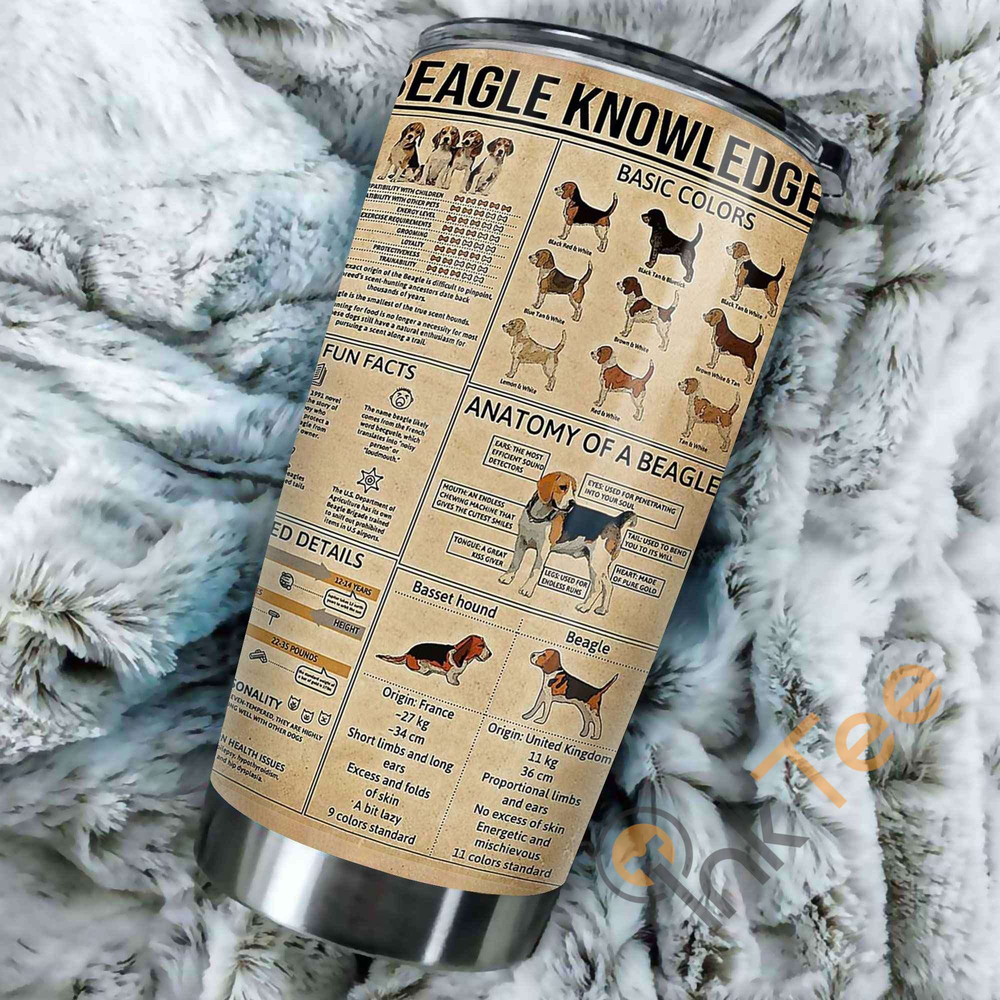 Beagle Knowledge Stainless Steel Tumbler
