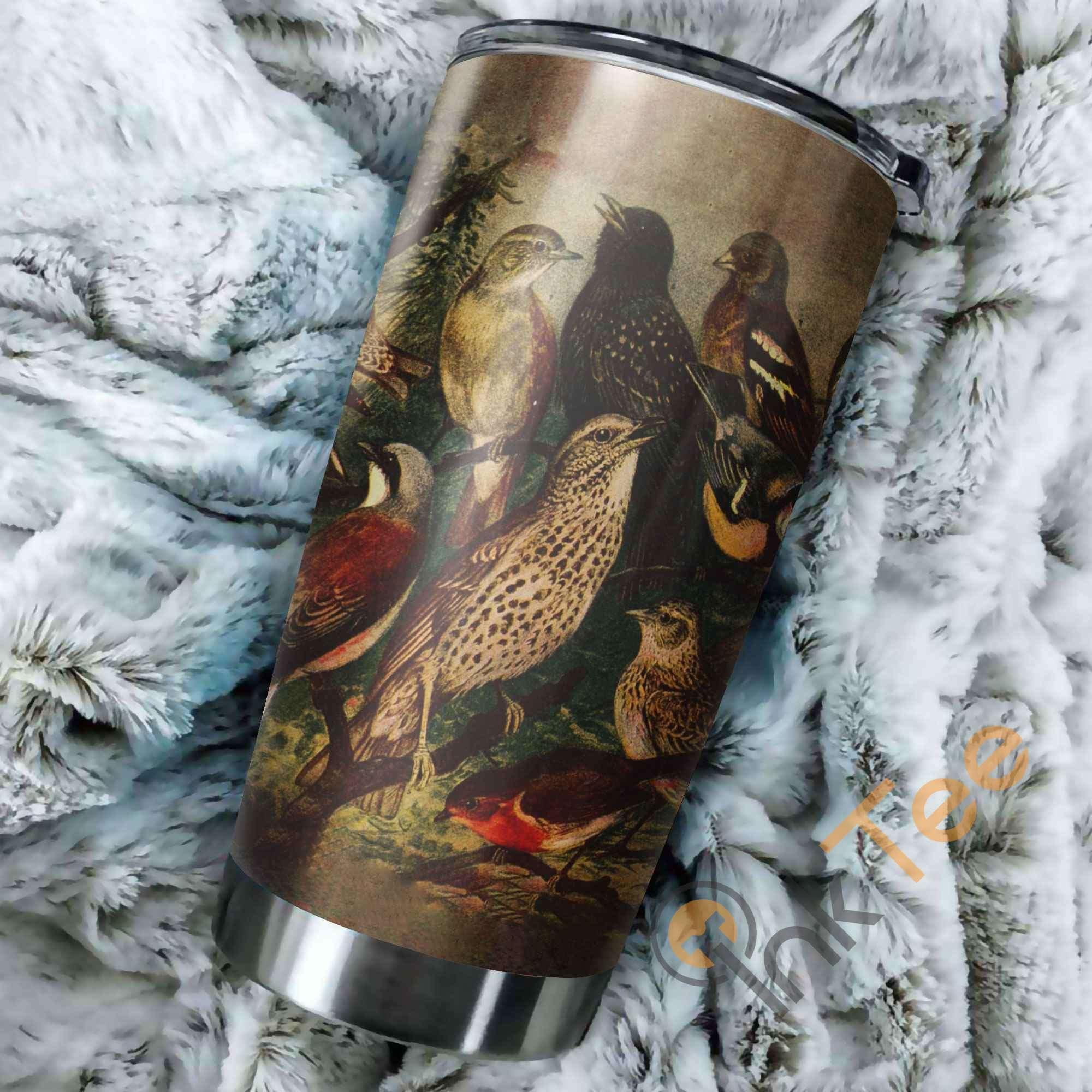 Beautiful Birds Stainless Steel Tumbler