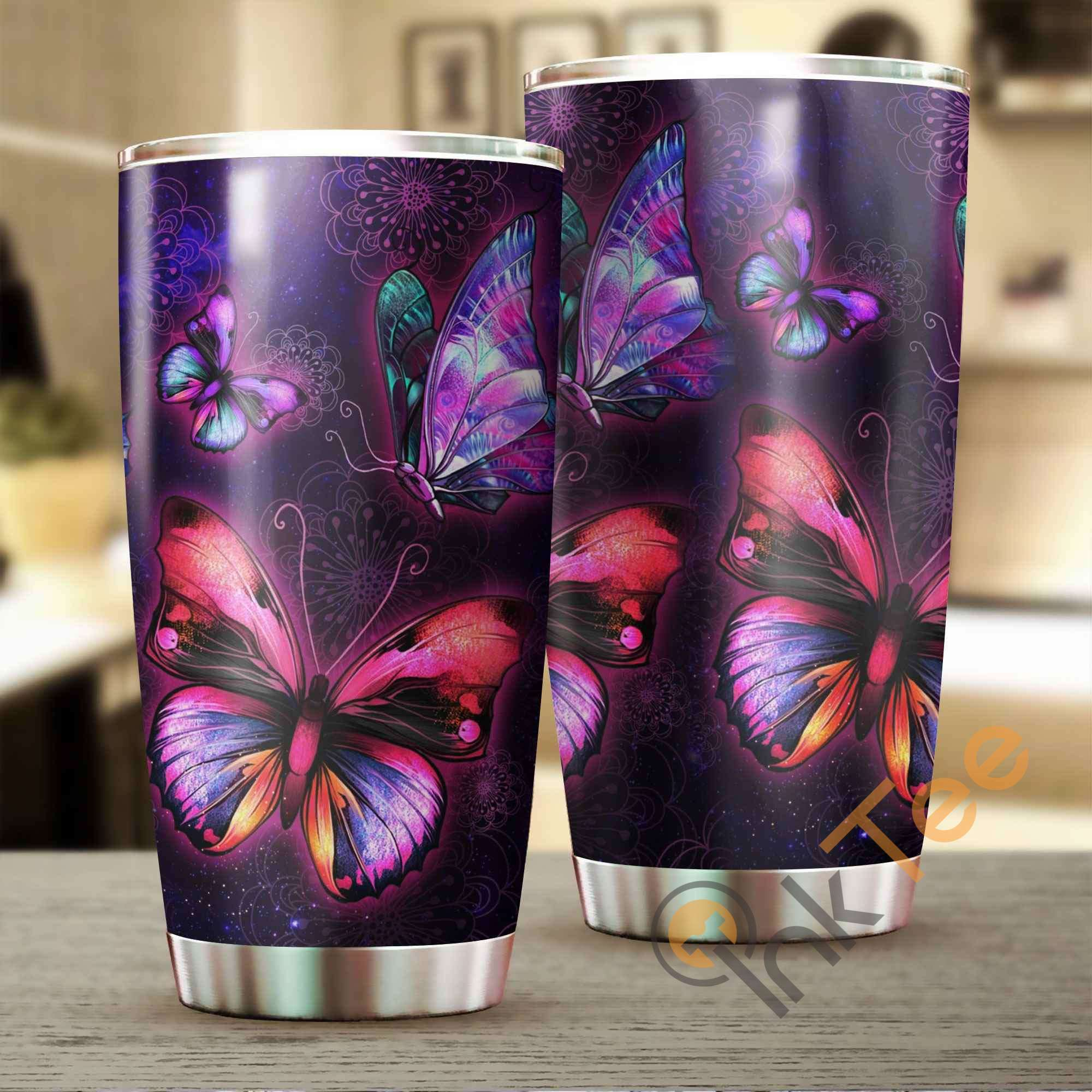 Beautiful Butterfly Amazon Best Seller Sku 2783 Stainless Steel Tumbler