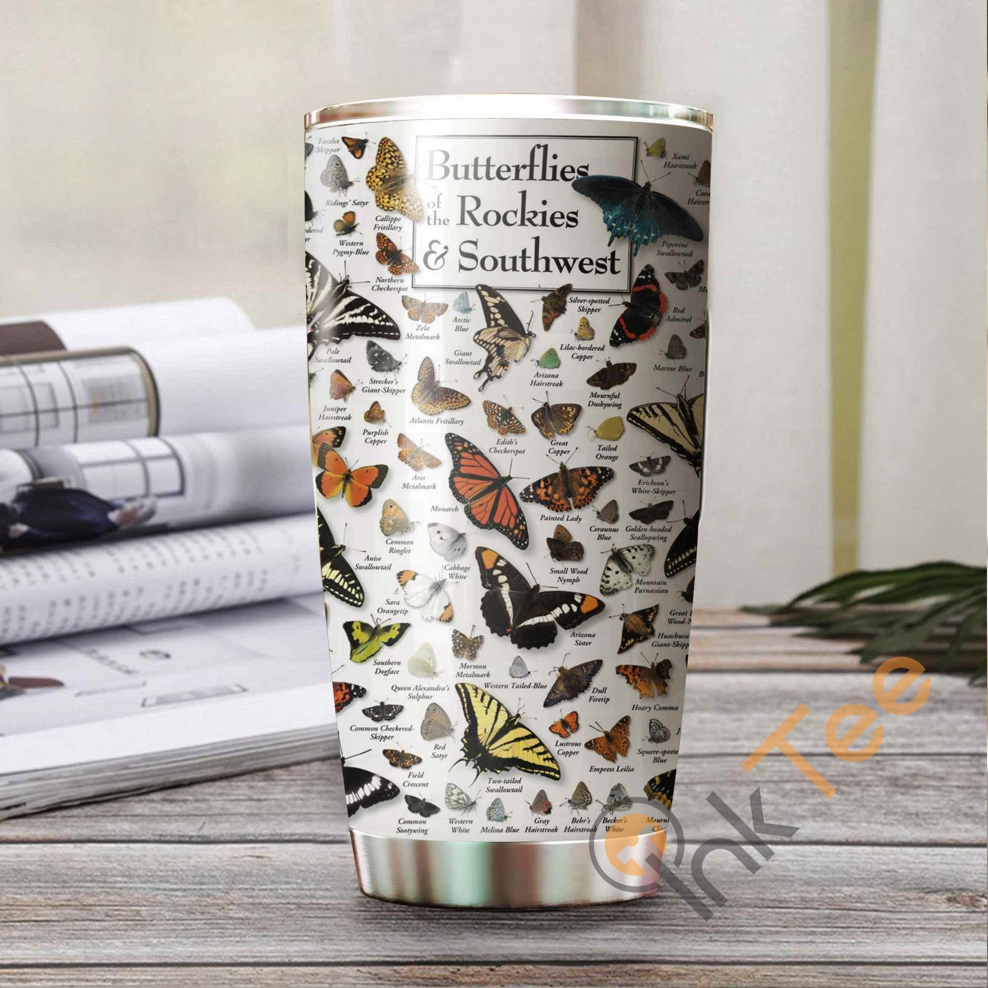 Beautiful Butterfly Amazon Best Seller Sku 3733 Stainless Steel Tumbler