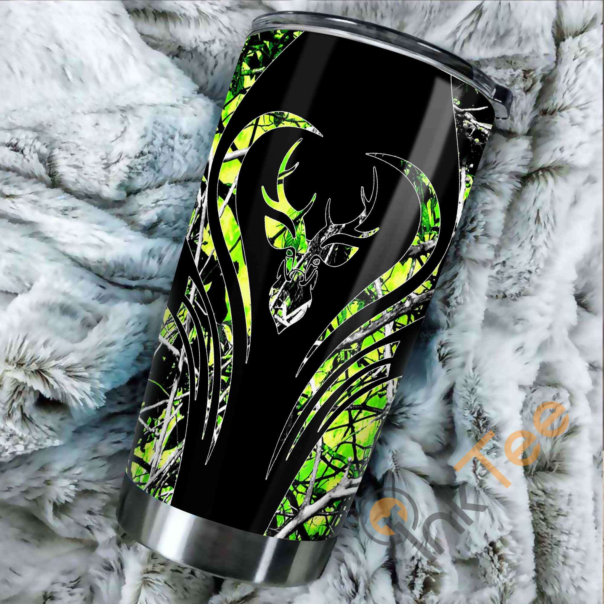 Beautiful Deer Hunting Camo Amazon Best Seller Sku 3219 Stainless Steel Tumbler