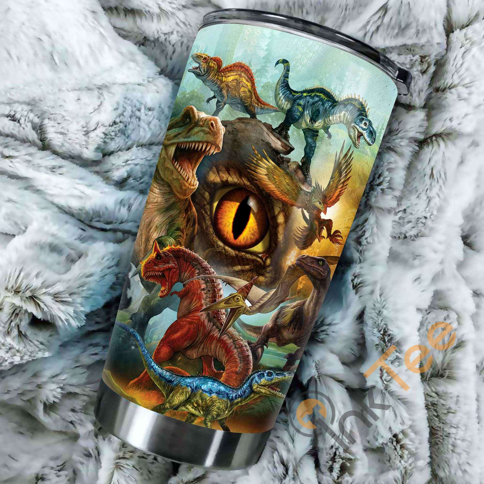 Beautiful Dinosaur Art Amazon Best Seller Sku 3342 Stainless Steel Tumbler