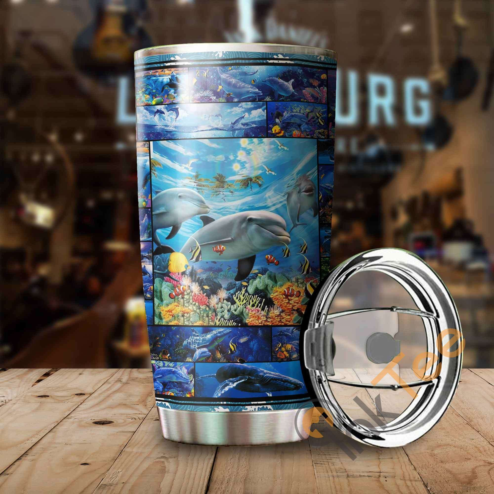 Beautiful Dolphin Stainless Steel Tumbler
