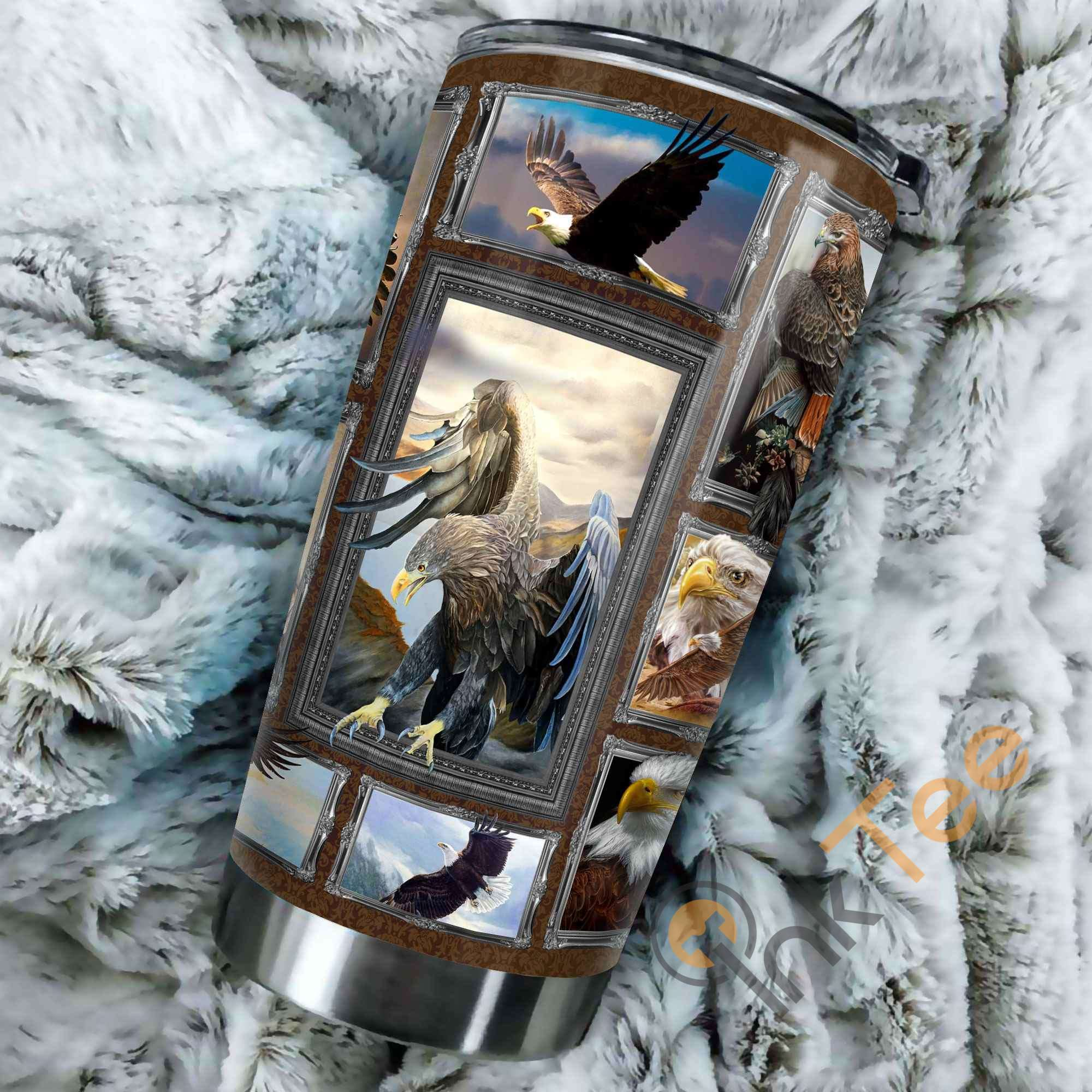 Beautiful Eagle Stainless Steel Tumbler