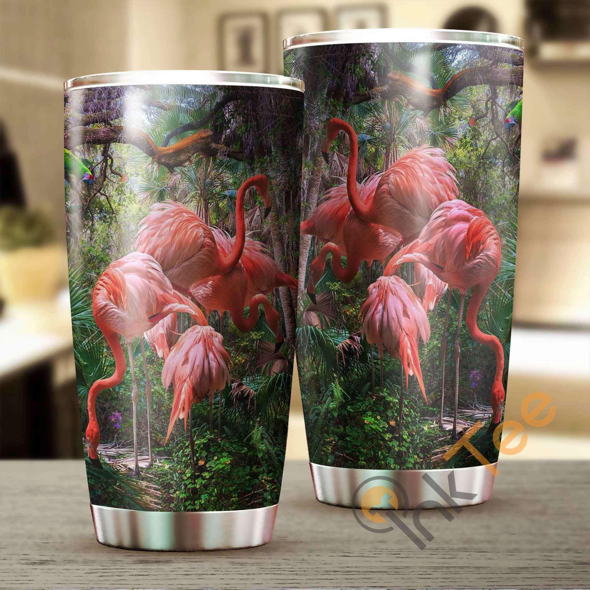 Beautiful Flamingo Stainless Steel Tumbler
