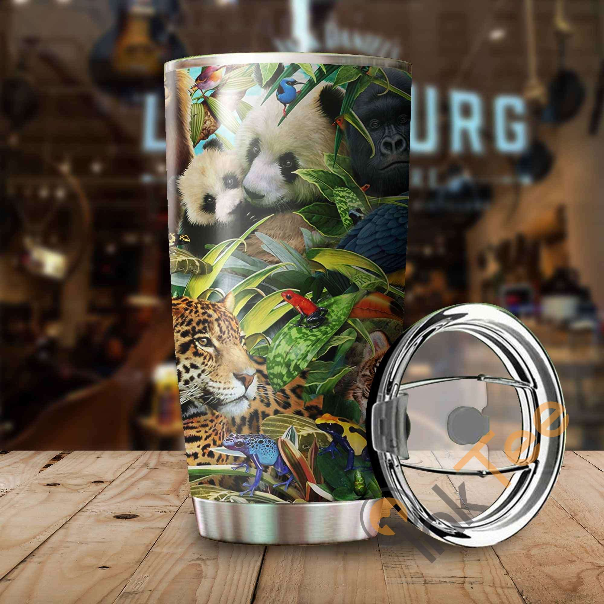Beautiful Forest Friends Stainless Steel Tumbler
