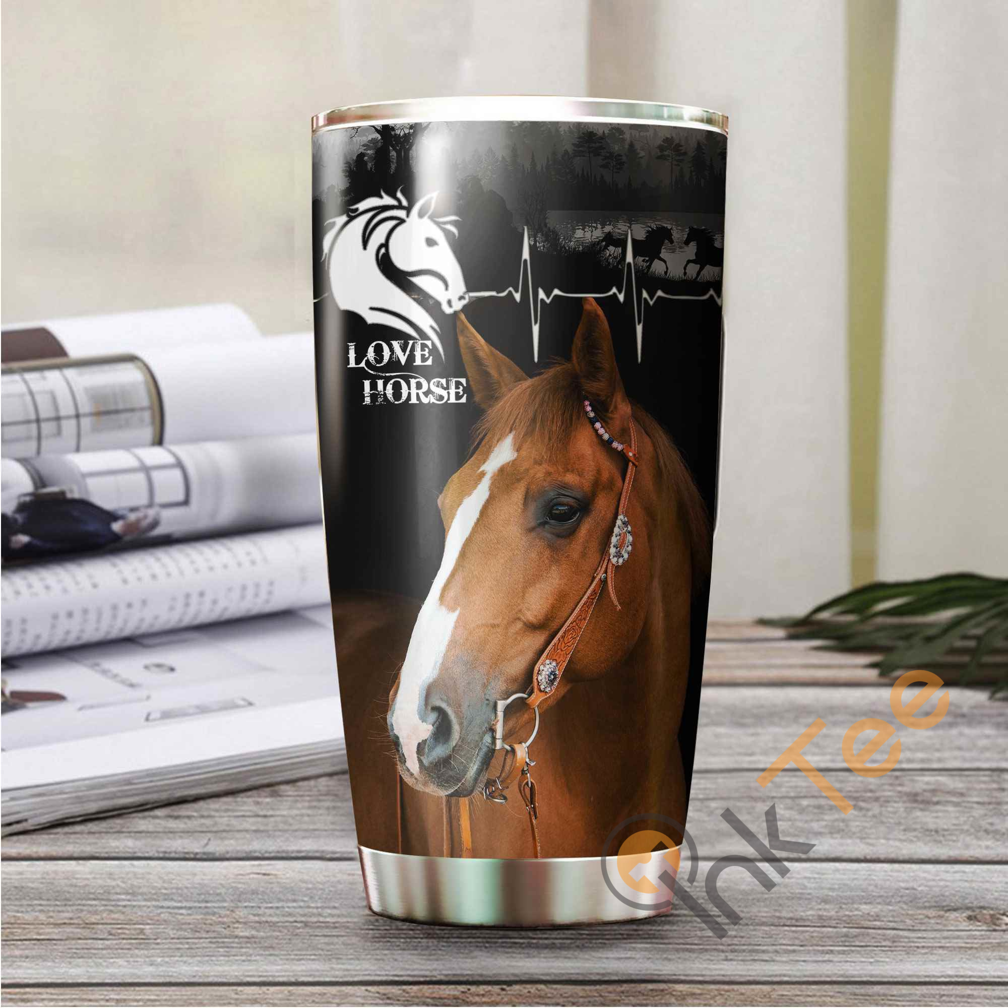 Beautiful Horse Amazon Best Seller Sku 3003 Stainless Steel Tumbler